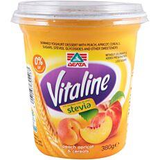 Γιαούρτι VITALINE ροδάκινο βερίκοκο και δημητριακά (380g)