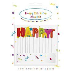 Κεράκια γενεθλίων HAPPY BIRTHDAY