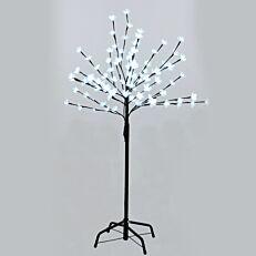 Χριστουγεννιάτικο δέντρο φωτιζόμενο, 100 led με λευκό φως 1,20m