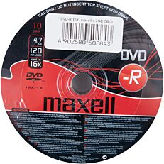 DVD-R MAXELL 4,7GB (10τεμ.)