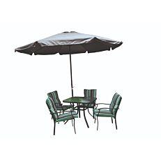 Σετ εξοχής MIMOSA GARDEN μεταλλικό τραπέζι με 4 πολυθρόνες