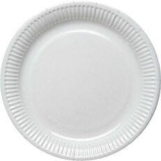 Πιάτα χάρτινα μονόχρωμα λευκά 16cm (10τεμ.)