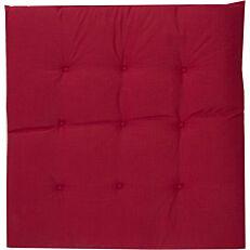 Μαξιλάρι καρέκλας βαμβακερό κόκκινο 39x39x5cm