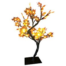 Χριστουγεννιάτικο δέντρο φωτιζόμενο, σφένδαμος εξωτερικού χώρου, 48 led με θερμό και ψυχρό φως 45cm