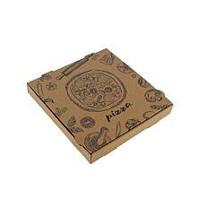 Κουτιά πίτσας microwelle κραφτ 28x4,2cm (50τεμ.)