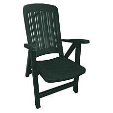 Καρέκλα πλαστική ανακλινόμενη πράσινη