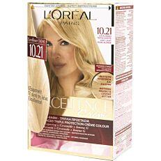 Βαφή μαλλιών L'OREAL excellence κατάξανθο περλέ σαντρέ no.10.21