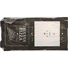 Κουτιά πίτσας microwelle Delicious μαύρο 33x4,2cm (50τεμ.)