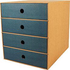 Συρταριέρα με 4 συρτάρια μπλε
