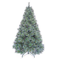 Χριστουγεννιάτικο δέντρο με χιονισμένες άκρες κλαδιών 1,80m