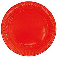Πιάτα χάρτινα μονόχρωμα κόκκινα 20cm (10τεμ.)