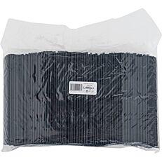 Καλαμάκια ίσια, μαύρα, 180x4mm (1000τεμ.)