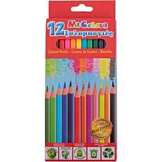 Ξυλομπογιές εξάγωνες σε 12 χρώματα