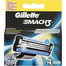 Ανταλλακτικά ξυραφάκια GILLETTE MACH3 (4τεμ.)