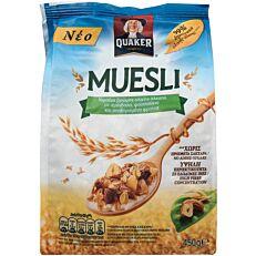 Δημητριακά QUAKER τραγανές μπουκιές μούσλι με ξηρούς καρπούς (450g)