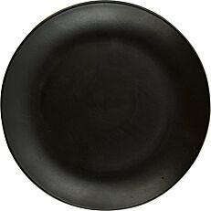 Πιάτο ρηχό πορσελάνης GURAL Bodrum μαύρο ματ Φ21cm
