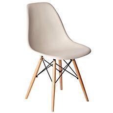 Καρέκλα με βάση χιαστί, ανοιχτό γκρι