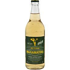 Οίνος λευκός ρετσίνα ΜΑΛΑΜΑΤΙΝΑ ξηρός (500ml)