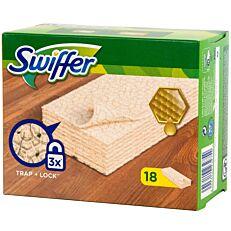 Καθαριστικά πανάκια SWIFFER για ξύλο και παρκέ (18τεμ.)