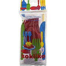 Πιρούνια πλαστικά PP μονόχρωμα (10τεμ.)