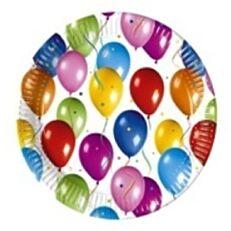 Πιάτα χάρτινα με σχέδιο Balloons Fiesta 16cm (8τεμ.)