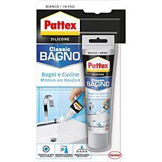 Σιλικόνη PATTEX Bl λευκή, για το μπάνιο και την κουζίνα (50ml)