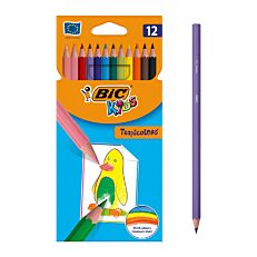 Ξυλομπογιές BIC kids tropicolors (12τεμ.)