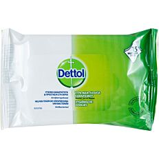 Υγρά μαντηλάκια DETTOL αντιβακτηριδιακά προσωπικής υγιεινής (15τεμ.)