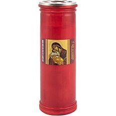 Κερί καντήλα 6 ημερών κόκκινο