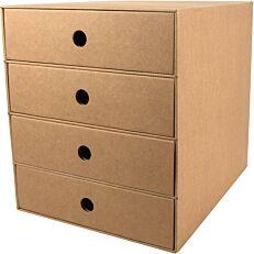 Συρταριέρα με 4 συρτάρια μπεζ