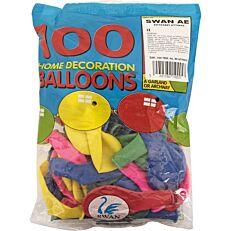 Μπαλόνια σε διάφορα χρώματα 32cm (100τεμ.)