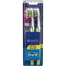 Οδοντόβουρτσα ORAL B 3d white medium (2τεμ.)
