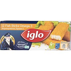 Ψαροκροκέτες IGLO Ω3 κατεψυγμένες (360g)