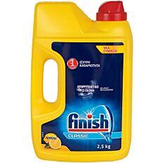 Απορρυπαντικό FINISH πλυντηρίου πιάτων λεμόνι, σε σκόνη (2,5kg)
