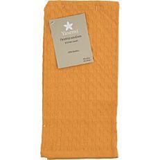 Πετσέτα κουζίνας YASEMI πικέ πορτοκαλί 40x60cm