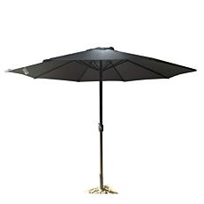 Ομπρέλα κήπου βολάν εκρού με μανιβέλα 3m