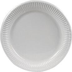 Πιάτα χάρτινα λευκά 23cm (50τεμ.)