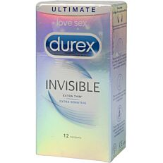 Προφυλακτικά DUREX Invisible εξαιρετικά λεπτά (12τεμ.)