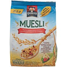 Δημητριακά QUAKER τραγανές μπουκιές μούσλι με φρούτα(450g)