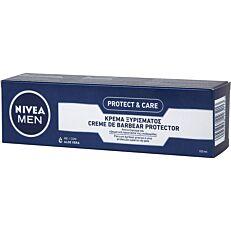 Κρέμα ξυρίσματος NIVEA protect & care με aloe vera (100ml)