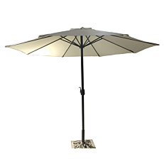 Ομπρέλα κήπου βολάν μπεζ με μανιβέλα