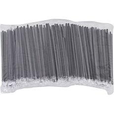 Καλαμάκια ίσια μαύρα συσκευασμένα 1/1 150x4mm (1000τεμ.)