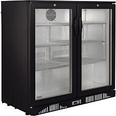 Βιτρίνα μπουκαλιών MASTER CHEF 2 πόρτες μαύρη (200lt)