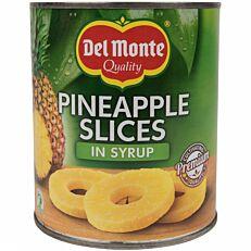 Κομπόστα DEL MONTE ανανάς φέτες σε φυσικό χυμό (510g)