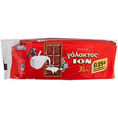 Σοκολάτα ΙΟΝ γάλακτος (3x100g)
