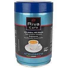 Καφές RIVA CAFÉ espresso platinum αλεσμένος decaf (250g)
