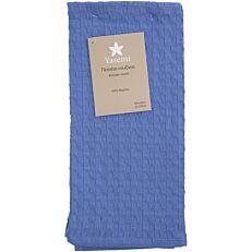 Πετσέτα κουζίνας YASEMI πικέ βαμβακερή μπλε 40x60cm