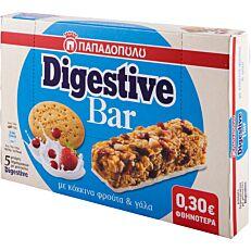 Μπάρα DIGESTIVE με φρούτα και σοκολάτα γάλακτος (5x28g)