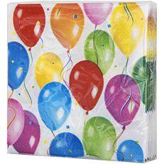 Χαρτοπετσέτες με σχέδιο μπαλόνια δίφυλλες 25x25cm (16τεμ.)