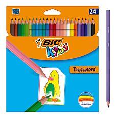 Ξυλομπογιές BIC kids tropicolors (24τεμ.)